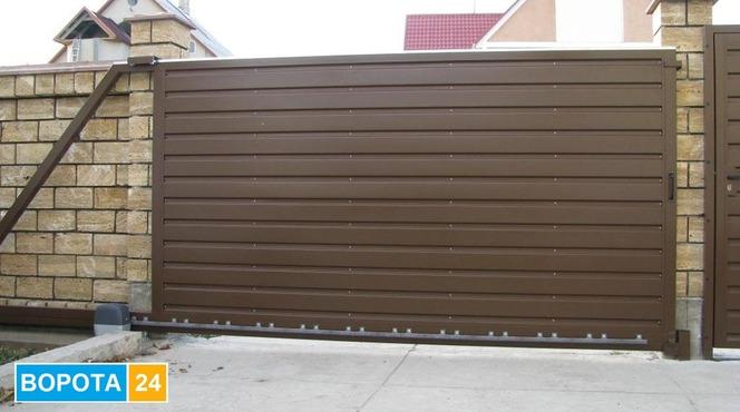 Автоматические откатные ворота киев самодельные ворота на дачу